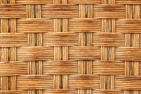 rattan mat: Wickerwork background detail Stock Photo