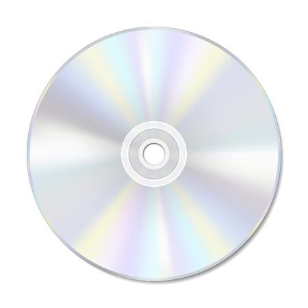 scheibe: Blank Disc auf wei� mit Platz f�r Text