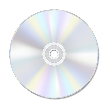 Blank disc on white with space for text