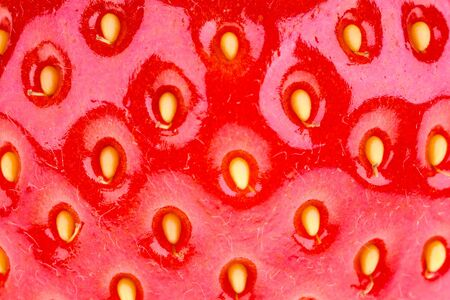A background texture of strawberry  Extreme closeup detail photo