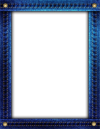 A blue denim frame with space for your image or text. EPS10 vector format