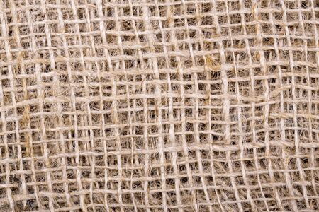 A closeup background texture of sackcloth  photo