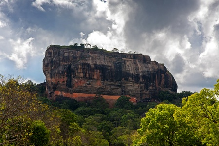 Sigiriya, also known as the Lion Rock, in the Matale region of central Sri Lanka  This ancient site was once the Capital. photo