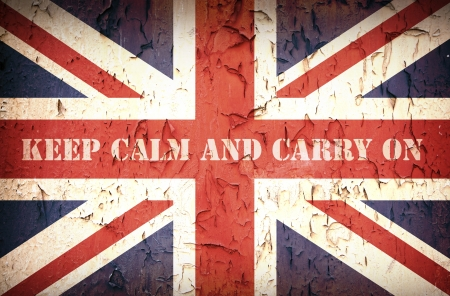 world war ii: Second World War Union Jack, with patriotic slogan that was used by the British Government to strengthen public morale in 1939 Stock Photo