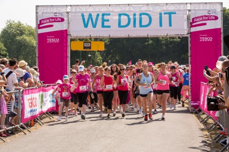 Southampton, UK - 14 July 2013 - Thousands of women gather for the annual Race for Live to raise money for Cancer Research. 14 July 2013