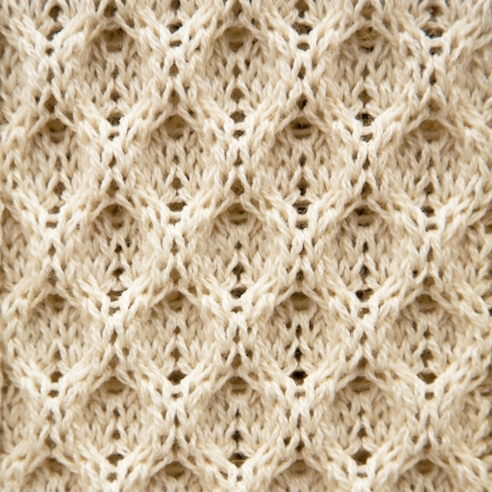 A background texture of knitted Aran wool