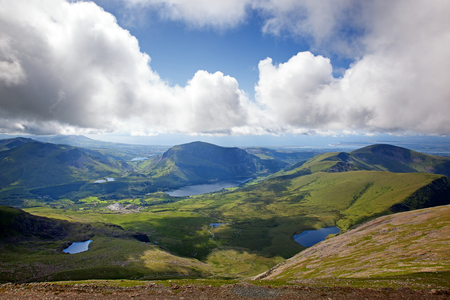 View across Snowdonia from the LLanberis Pass, Snowdonia, Wales