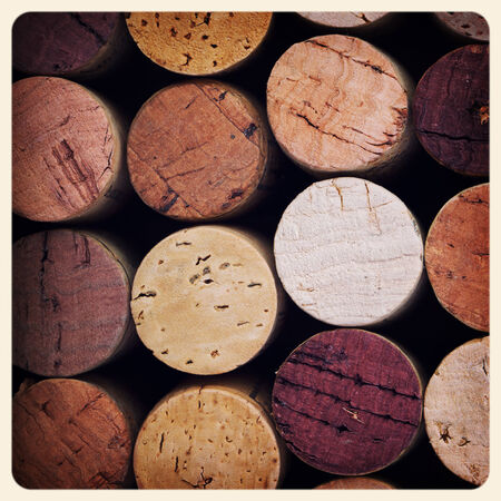 red wine stain: Retro style pink wine cork . Cross processed to look like an aged instant photo.