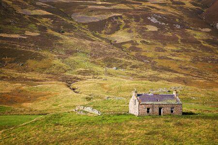 derelict: Derelict stone cottage in the Cairngorms, Scottish Highlands, Scotland, UK