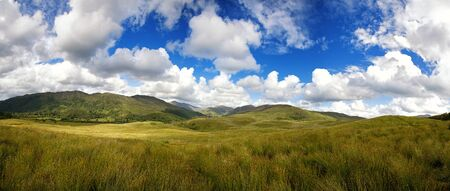 highland: A panorama of the Highlands of Scotland during summer