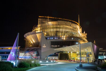 loto: MONTREAL, CANADA - AUGUST 20th 2014: Montreal Casino, built for Expo 67, sits on Notre Dame Island and is the largest casino in Canada. It is open around the clock. Editorial