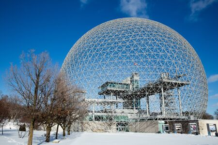 environmental issues: MONTREAL, CANADA - JANUARY 16th 2015: The Biosphere Museum, dedicated to environmental issues, is located in Parc Jean-Drapeau, and was designed by Buckminster Fuller. Editorial