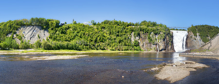 water fall: A panorama of Montmorency Falls, Quebec City, Canada