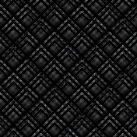 three layered: Seamless geometric background made from black and white halftone squares, layered to give a three dimensional effect. EPS10 vector format.