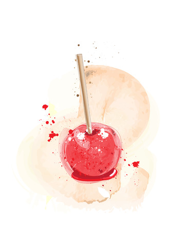 goodies: Candy apples watercolour effect. EPS10 vector format Illustration