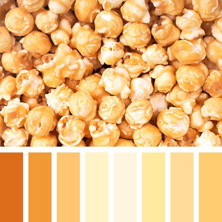 paletas de caramelo: Un fondo de las palomitas de caramelo en una paleta de colores con muestras de color gratuitos
