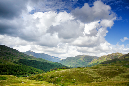 highland: Lochailort view. Scottish Highlands, western Scotland. Stock Photo