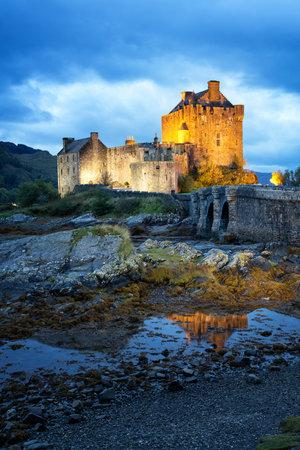 kyle: Eilean Donan Castle on Loch Duich, Kyle of Lochalsh, Western Highlands, Scotland.