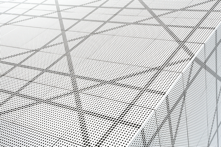details: Architectural abstract in black and white. Stock Photo