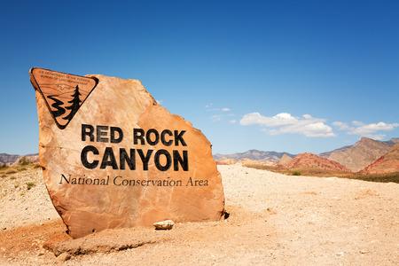 レッド ロック キャニオン州立公園、ネバダ州、米国のための印