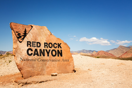 Sign for Red Rock Canyon State Park, Nevada, USA