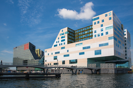 Amsterdam, The Netherlands - 7th May 2014 - The Palace of Justice building in Amsterdam. This modern, angular complex was designed by Claus en Kaan Architects. Editorial