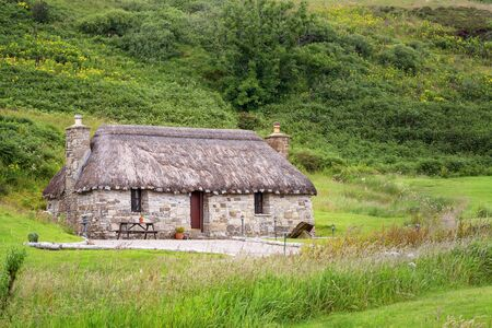 Crofters cottage on the Isle of Skye, Inner Hebrides, Scotland.