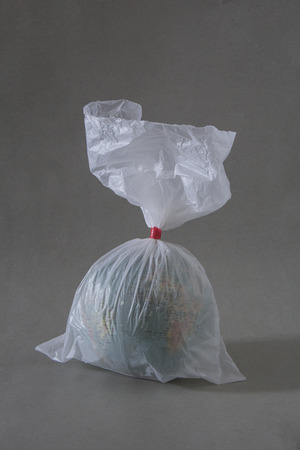 The globe packed in plastic bags