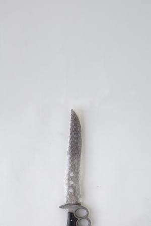 Combat Knife wrapped on plastic bubblewarp
