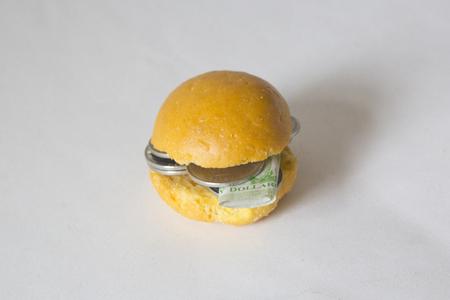 Some Money inside Bread