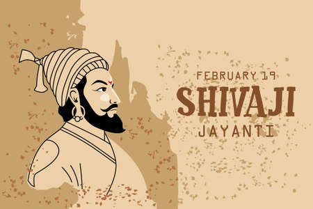 Shivaji Jayanti is a festival and public holiday of the Indian state of Maharashtra, Vector design old background
