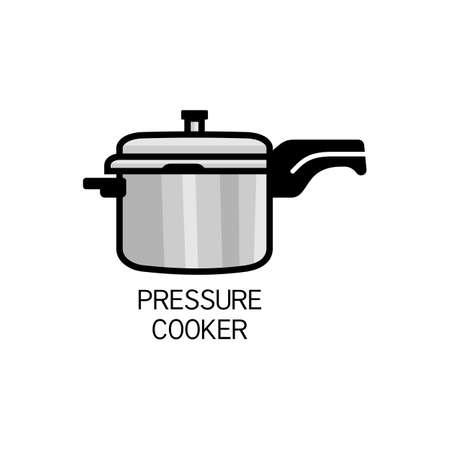 Pressure Cooker for cooking outline vector for packaging design