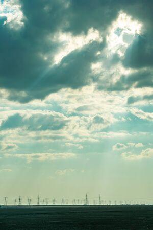 an evening cloudy view of Ruwais desert Abu dhabi