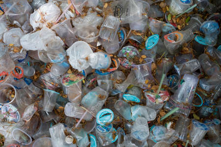 Various types of plastic bottles are collected in a waste basket in Banda Aceh, Aceh province in Banda Aceh, Indonesia. Tuesday - April 21, 2020. Editorial