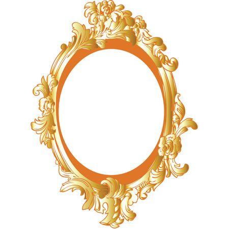 gold decorative frame  Vector