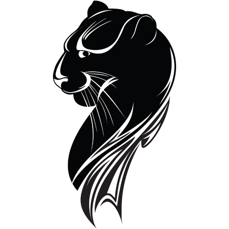 head of the black panther Illustration