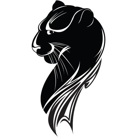 puma: testa della pantera nera