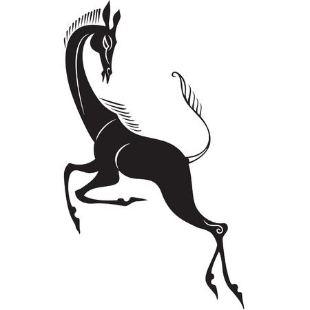 black silhouette of grace gazelle