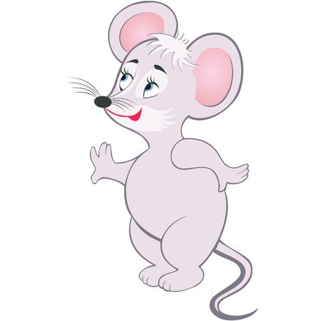 comic gray smiling little mouse Stock Vector - 7901020