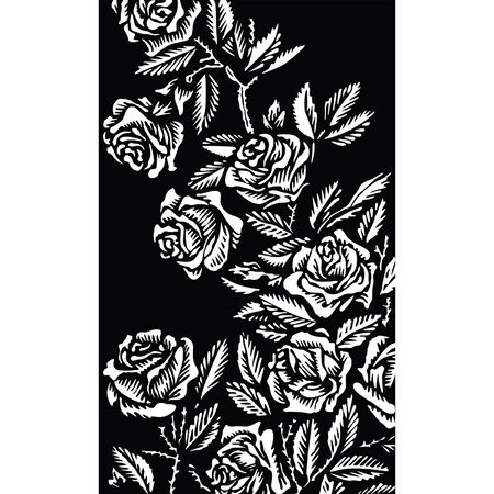 black: Background with roses