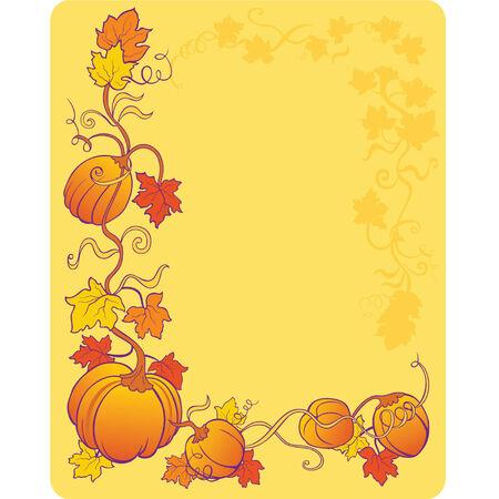 yellow pumpkin background