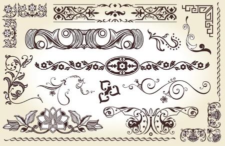 set of elements for page decoration  Illustration