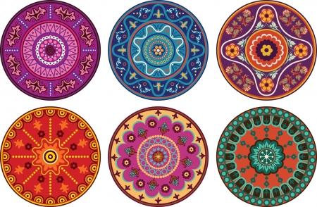 hinduismo: Adorno floral color de estilo indio