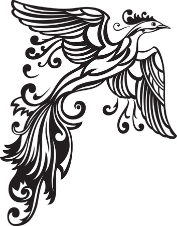 Vector illustration of decorative bird  Stock Vector - 10144882