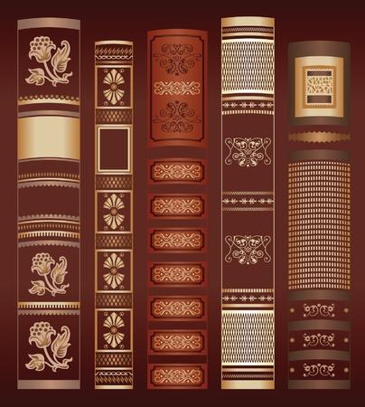 old books: Farbbuch Hintergrund Illustration