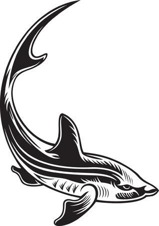 Symbol of big fish Stock Vector - 15369193