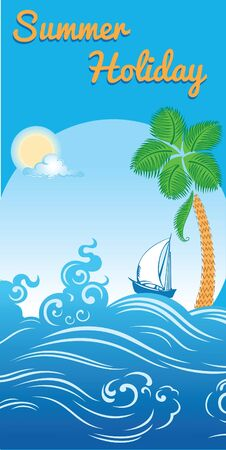 sea summer holiday travel template Vector