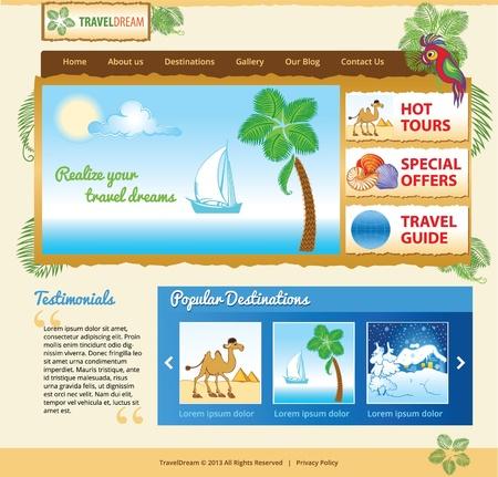 Template for travel website Stock Vector - 18599818