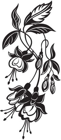 bell flower: Bunch of decorative flowers Illustration
