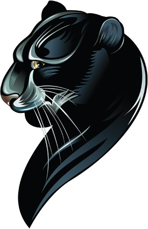 silhouette of the black panther Vector